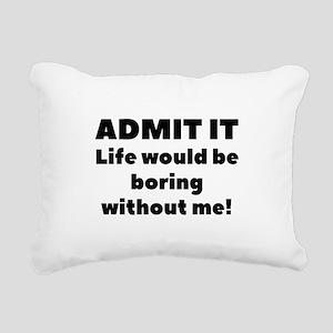 Admit It Rectangular Canvas Pillow
