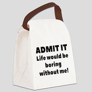 Admit It Canvas Lunch Bag