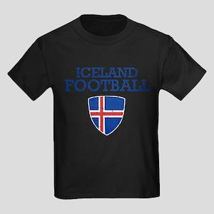 Iceland Football Kids Dark T-Shirt