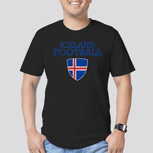Iceland Football Men's Fitted T-Shirt (dark)