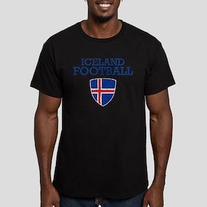 Iceland Football Men's Fitted T-Shirt (dark)