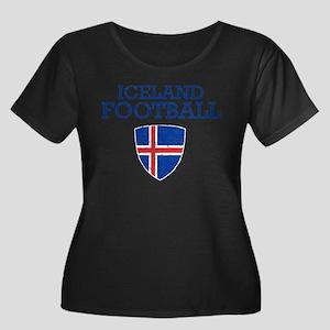 Iceland Women's Plus Size Scoop Neck Dark T-Shirt