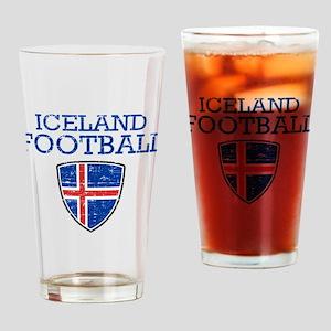 Iceland Football Drinking Glass