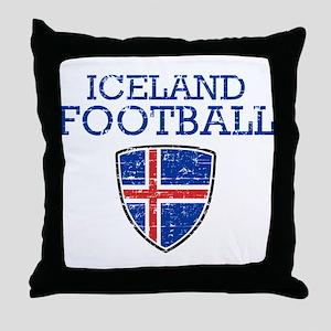 Iceland Football Throw Pillow