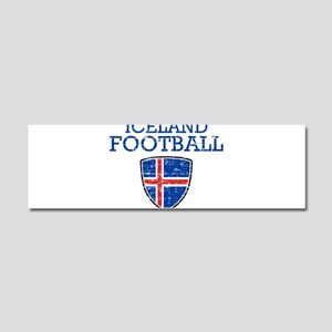 Iceland Football Car Magnet 10 x 3