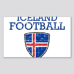 Iceland Football Sticker (Rectangle)