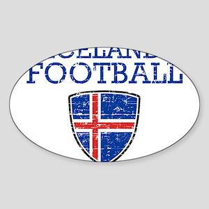 Iceland Football Sticker (Oval)