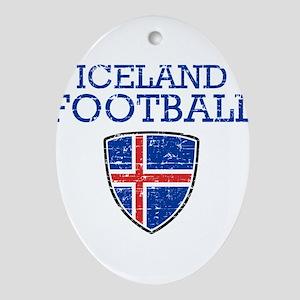 Iceland Football Oval Ornament
