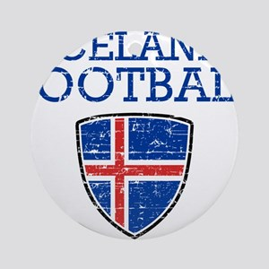 Iceland Football Round Ornament