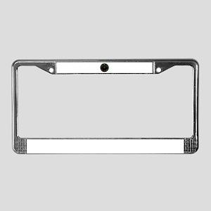 Half Full Gauge License Plate Frame