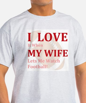 Cute My wife football T-Shirt