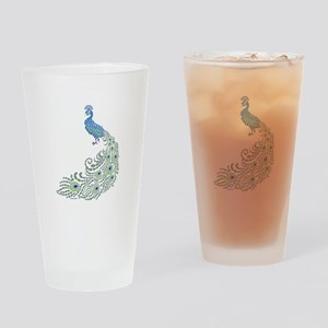Jeweled Peacock Drinking Glass