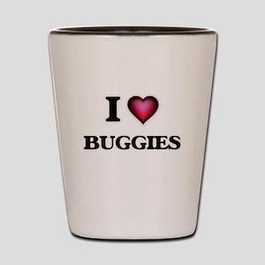 I Love Buggies Shot Glass