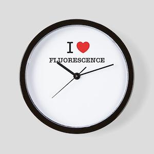 I Love FLUORESCENCE Wall Clock