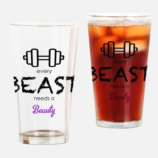 Cute Beauty beasts Drinking Glass