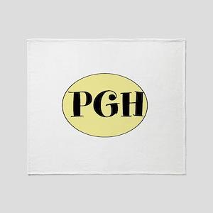 PGH, Pittsburgh, PA, Throw Blanket