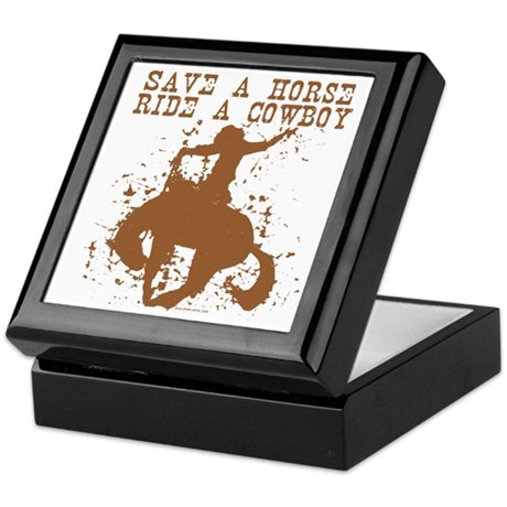 Save a horse, ride a cowboy. Keepsake Box