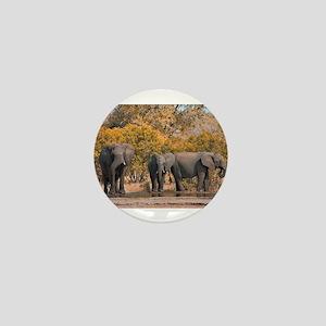 kruger-park-elephants Mini Button