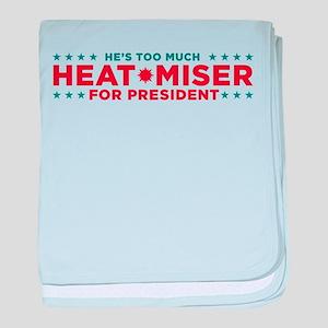 Heat Miser for President baby blanket