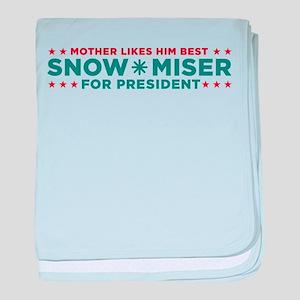 Snow Miser for President baby blanket