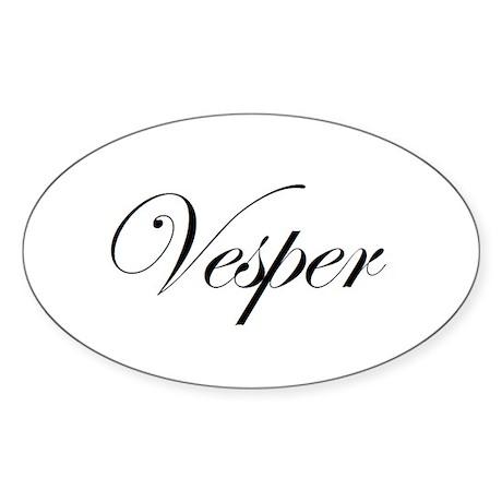 Vesper Oval Sticker