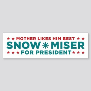 Snow Miser for President Bumper Sticker