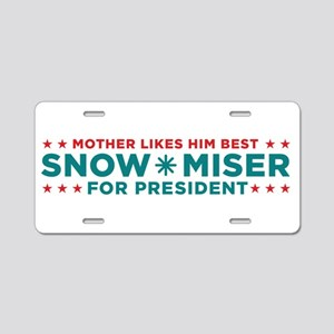 Snow Miser for President Aluminum License Plate