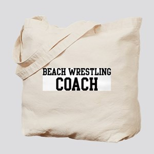 BEACH WRESTLING Coach Tote Bag