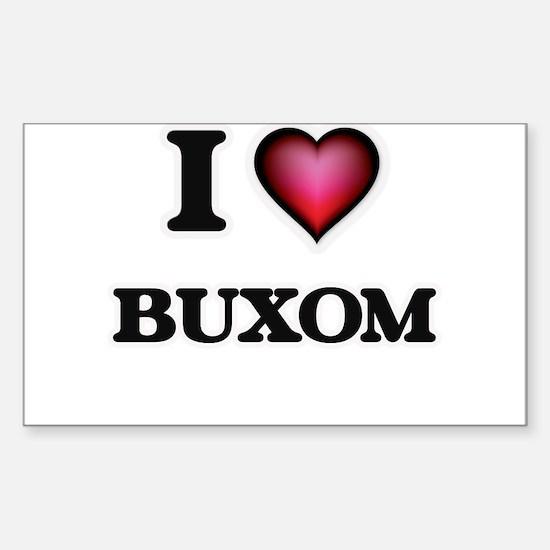 I Love Buxom Decal