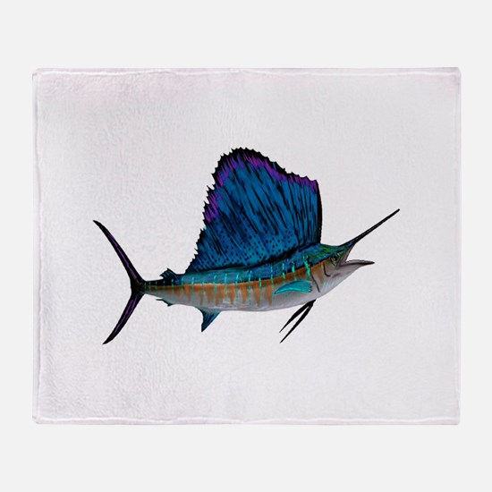 SAILFISH Throw Blanket