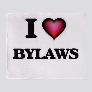 I Love Bylaws Throw Blanket