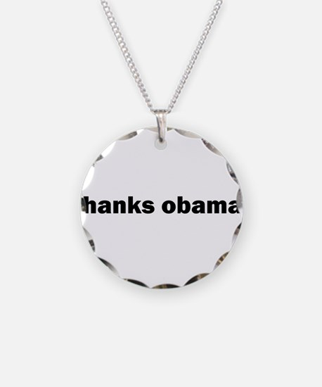 Cool Barack Necklace Circle Charm