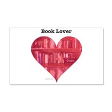 Book Lover Heart Wall Decal