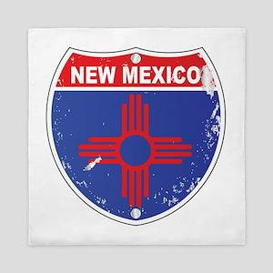 New Mexico Highway Sign Queen Duvet