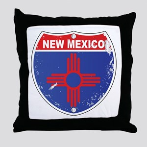 New Mexico Highway Sign Throw Pillow
