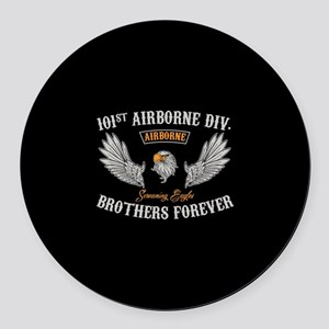 101st Airborne Brothers Round Car Magnet