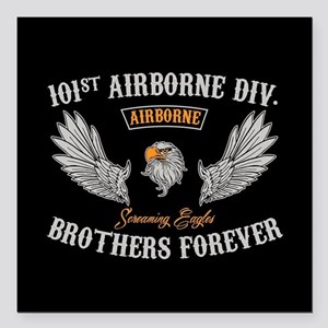 """101st Airborne Brothers Square Car Magnet 3"""" x 3"""""""