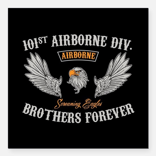 "101st Airborne Brothers Square Car Magnet 3"" x 3"""