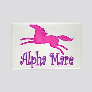 Alpha Mare. Pink Horse Rectangle Magnet