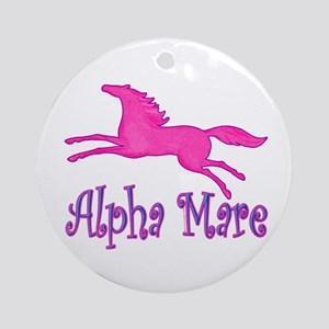 Alpha Mare. Pink Horse Ornament (Round)