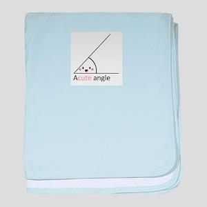 Acute Angle baby blanket