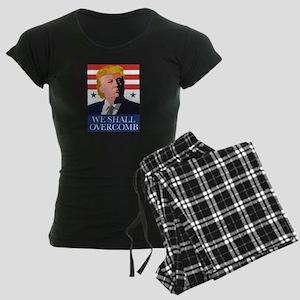 Donald Trump Combover Women's Dark Pajamas