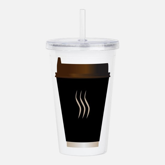 Paper Coffee Cup Acrylic Double-wall Tumbler