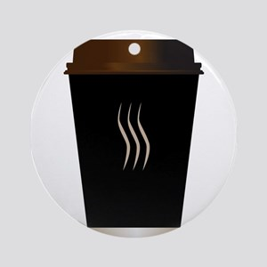 Paper Coffee Cup Round Ornament