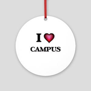 I love Campus Round Ornament