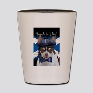 Father's Day Chihuahua Dog Shot Glass