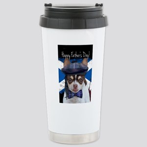 Father's Day Chihuahua Stainless Steel Travel Mug