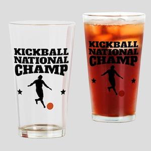 Kickball National Champ Drinking Glass