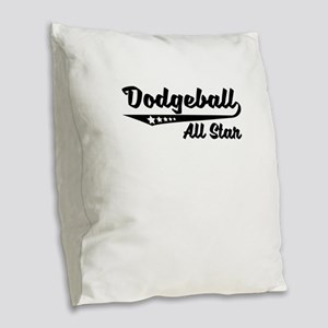 Dodgeball All Star Burlap Throw Pillow