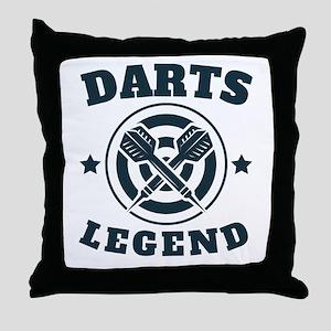 Darts Legend Throw Pillow